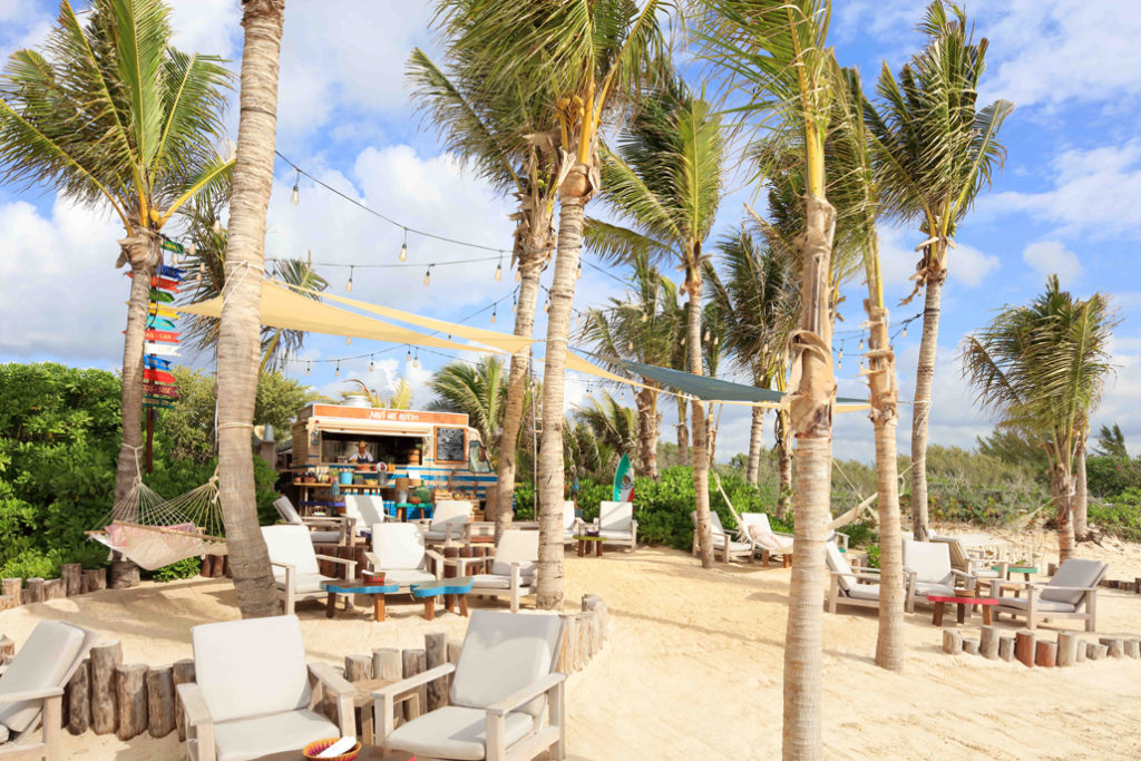 "Club de playa ""Aqui me quedo"", Rosewood Mayakoba. Foto: especial."